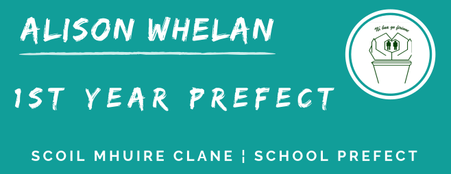 1st year prefect banner