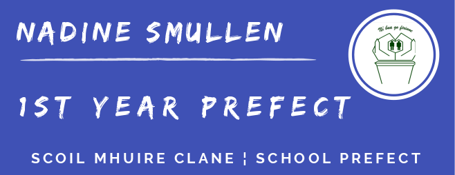 1st year prefect banner